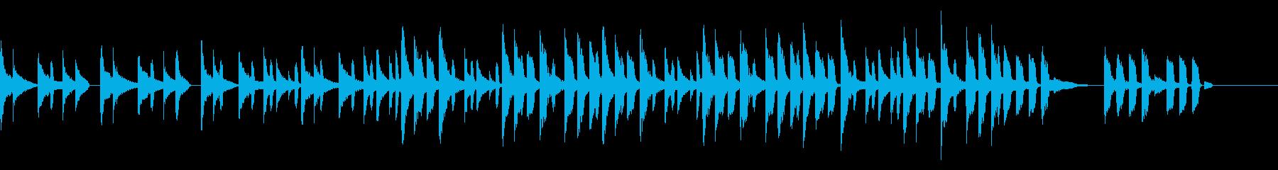 ほのぼのとしたコミカルな曲の再生済みの波形