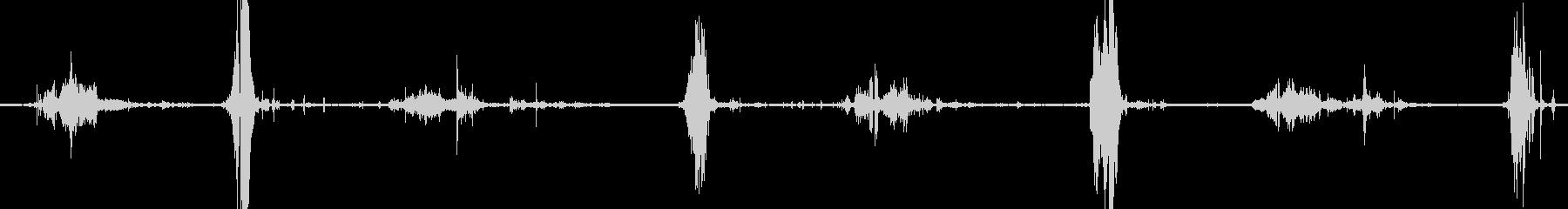ライフルイントゥレザーホルスターの未再生の波形