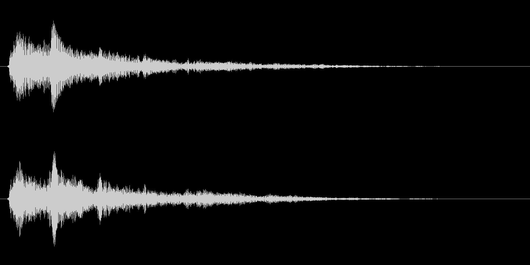 金属系バネ入りのクリック音(1音)の未再生の波形