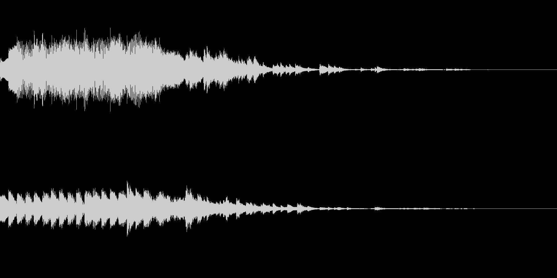 オルゴールのジングル(きらきら系)の未再生の波形