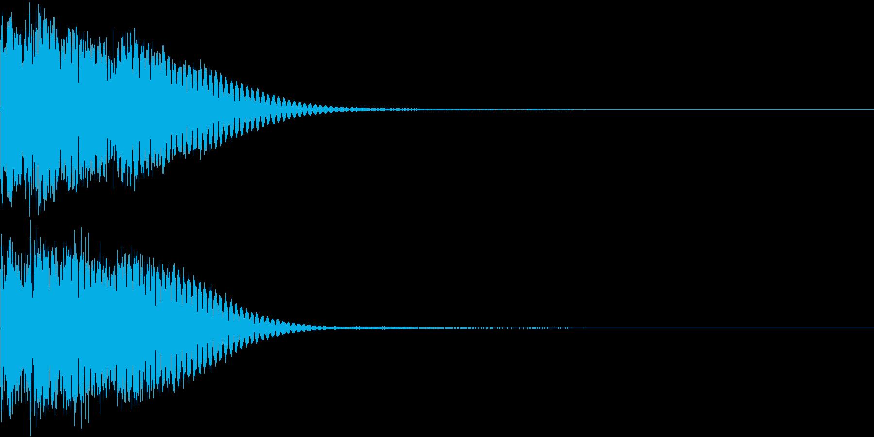 クリック音、キラン、キュイン、ピコン07の再生済みの波形