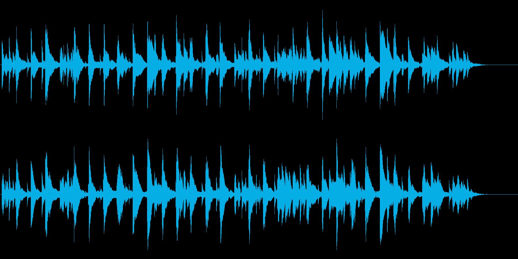 シンセによるシンプルなBGM(シンプル)の再生済みの波形