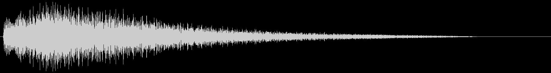 【ピアノ生演奏】少し明るいジングルの未再生の波形