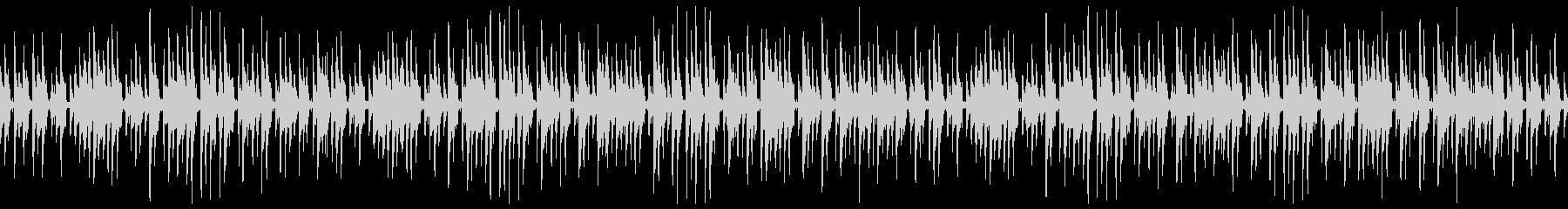 ほのぼのとしたウクレレと木琴のゆるい曲の未再生の波形