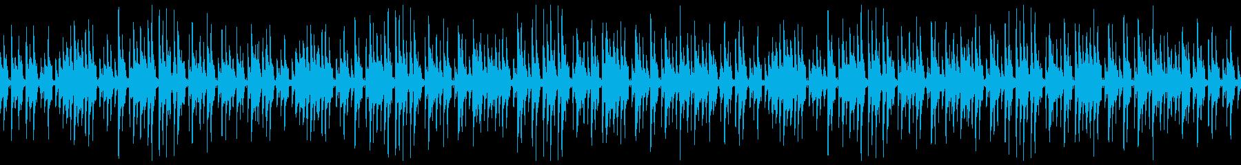 ほのぼのとしたウクレレと木琴のゆるい曲の再生済みの波形
