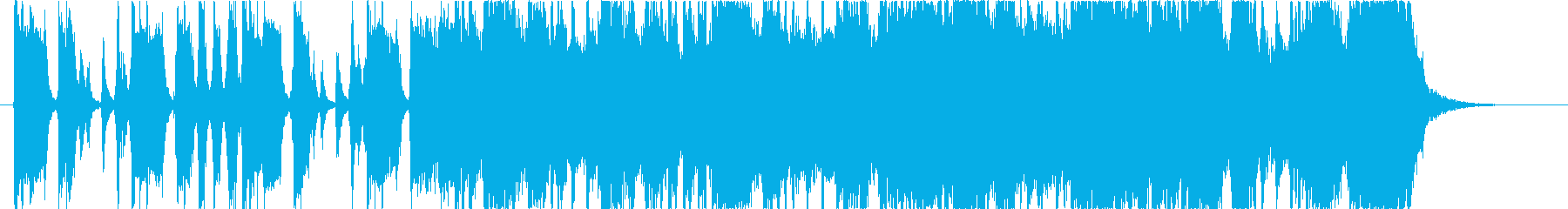 どっしりとしたロックギター(ソロ)の再生済みの波形