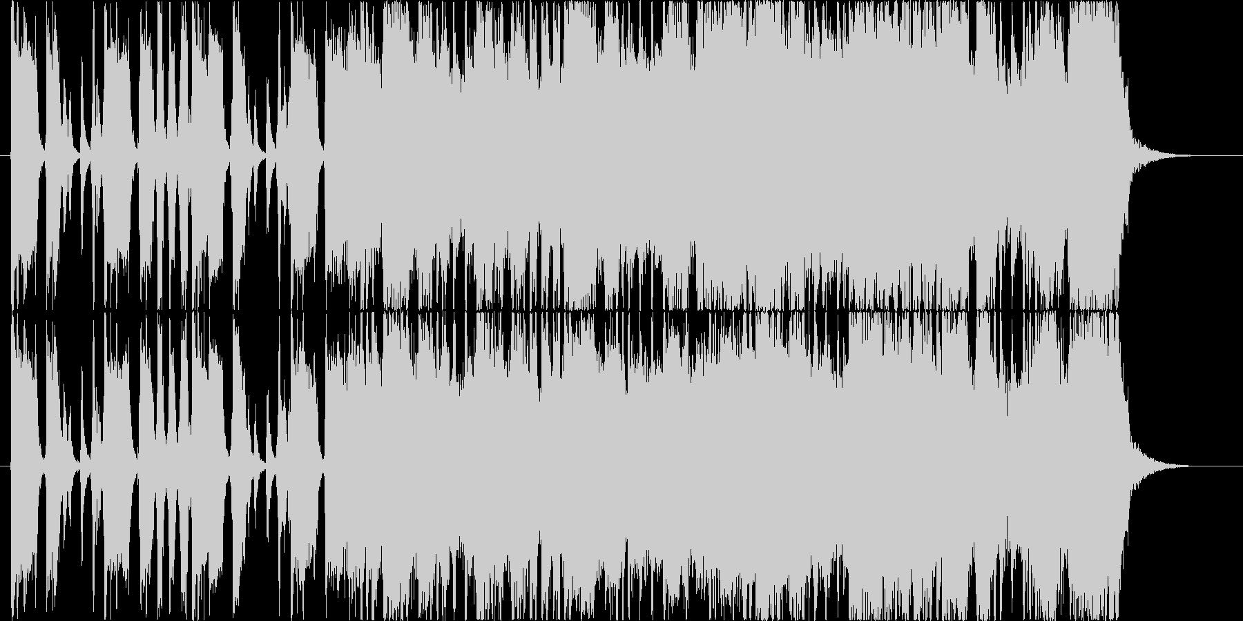 どっしりとしたロックギター(ソロ)の未再生の波形