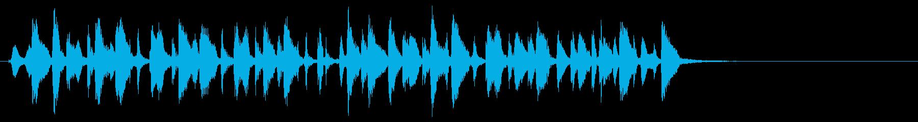 生演奏フルート/ごきげんお嬢様のジングルの再生済みの波形