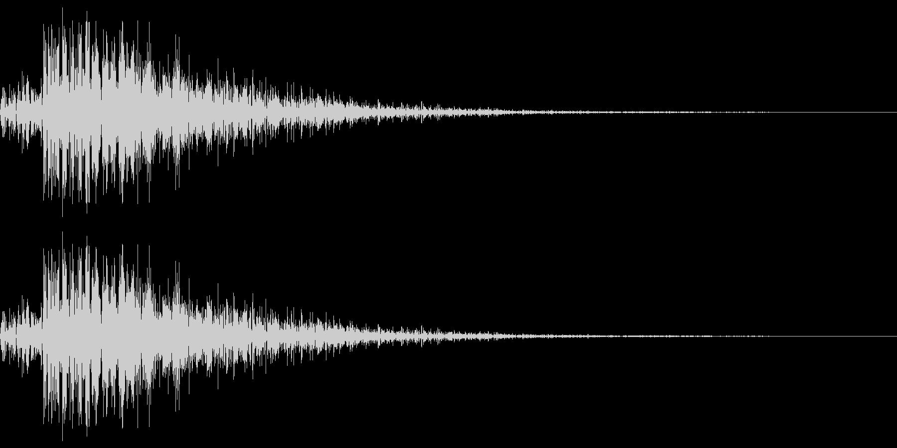 レーザーガンのイメージです。の未再生の波形