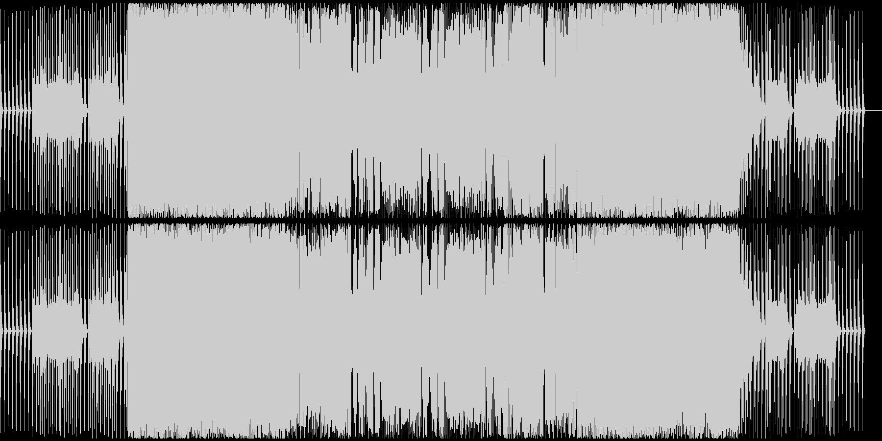 スピード感のあるハードテクノサウンドの未再生の波形