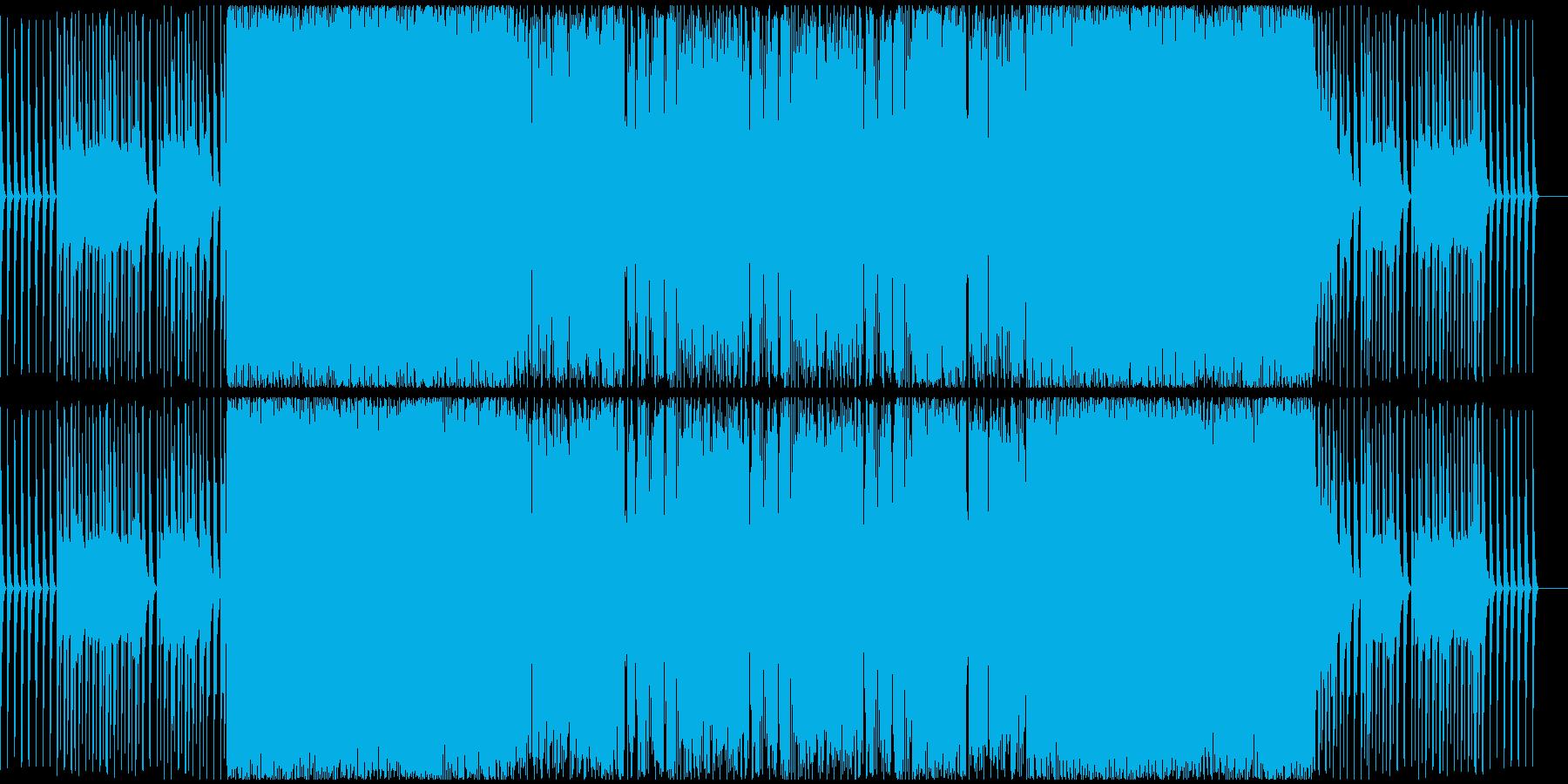 スピード感のあるハードテクノサウンドの再生済みの波形
