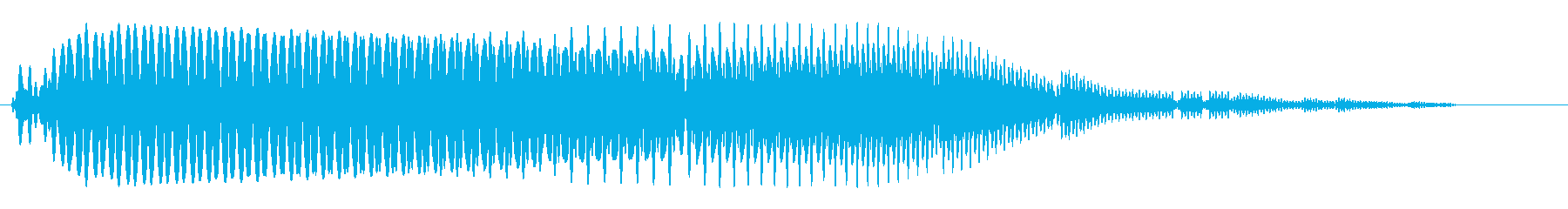 ブワ〜↑ン(やわらかく上がる音)の再生済みの波形