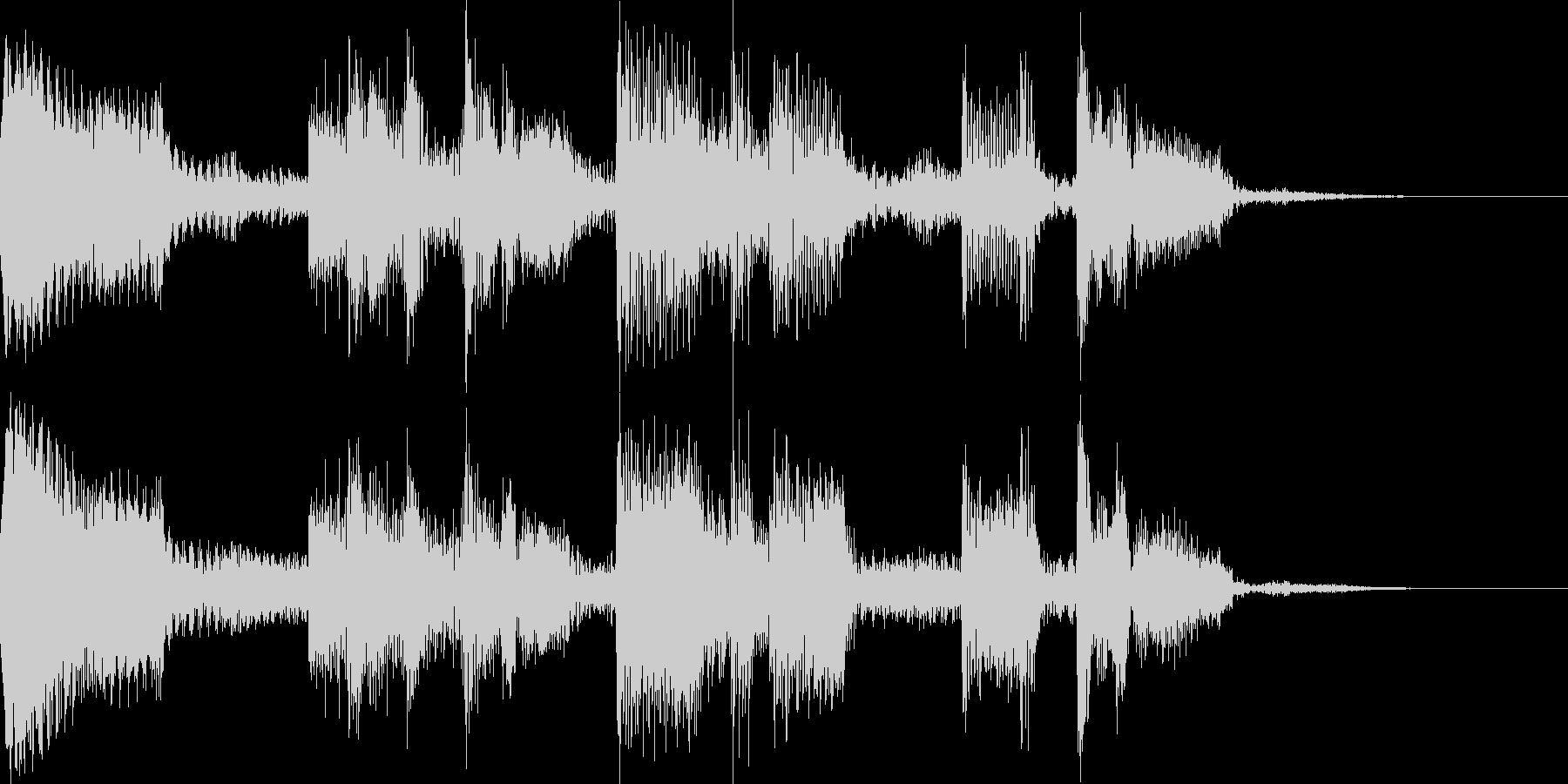 クールなジングル チルアウトの未再生の波形