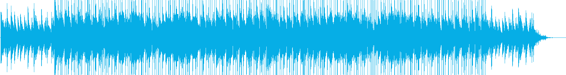 ポップでかわいいピアノ曲の再生済みの波形