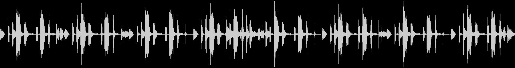 ピコピコかわいい、デジタルな待機BGMの未再生の波形