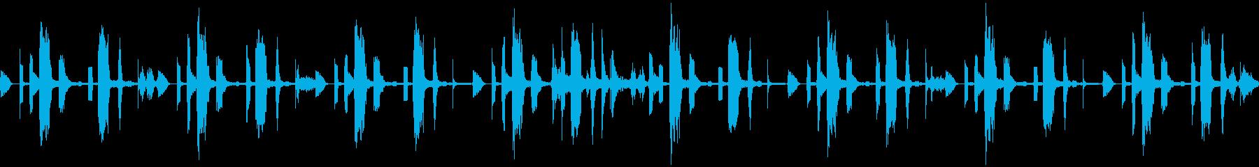 ピコピコかわいい、デジタルな待機BGMの再生済みの波形