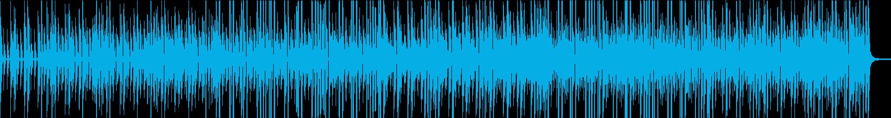 デジタルなリズムに気ままなギターの再生済みの波形