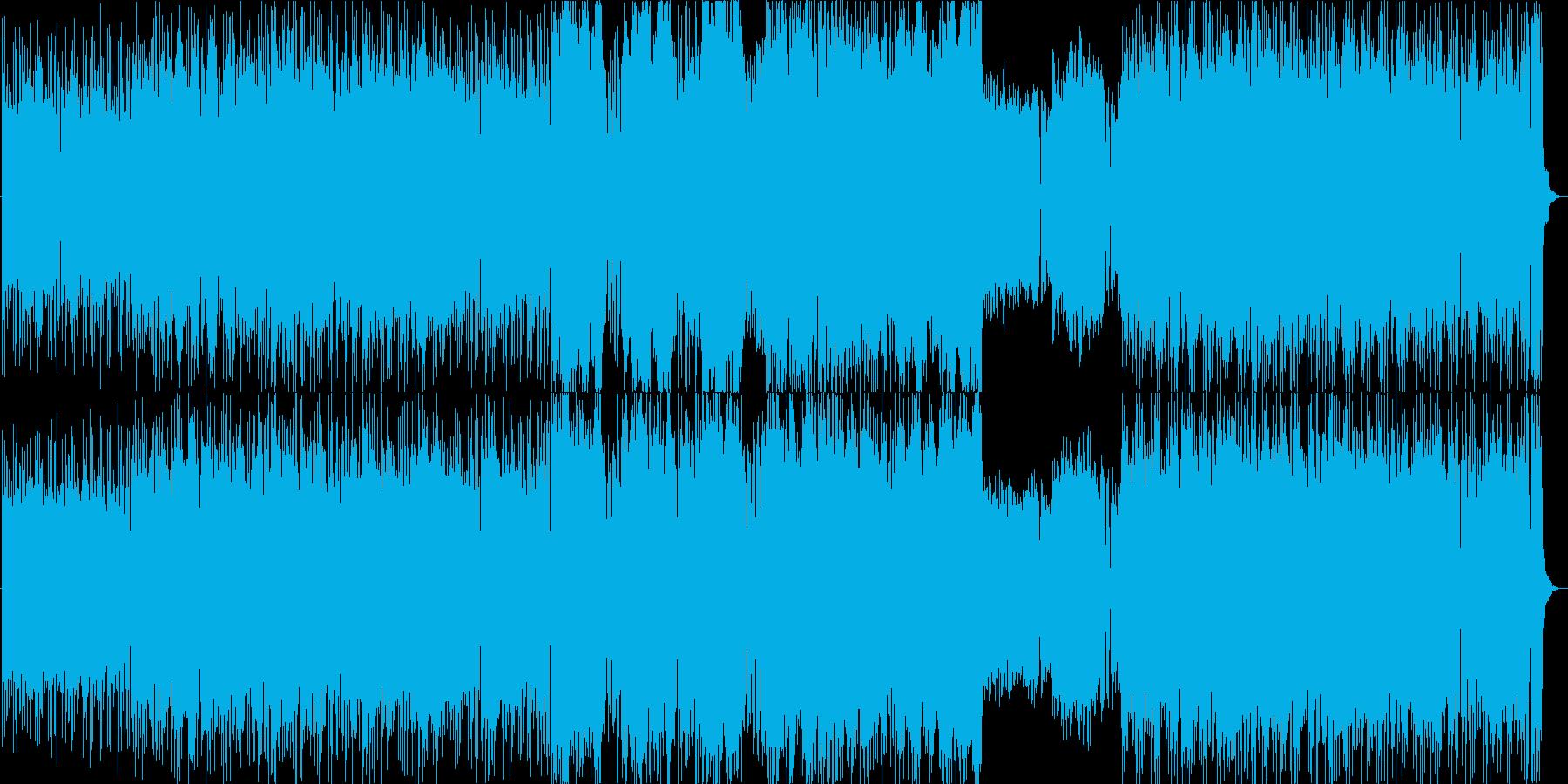 ゲーム、バトル、RPGに合う疾走感ある曲の再生済みの波形