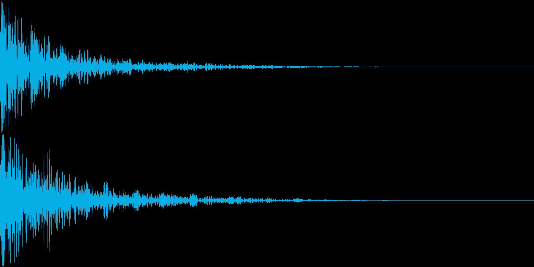 ドーン-48-2(インパクト音)の再生済みの波形