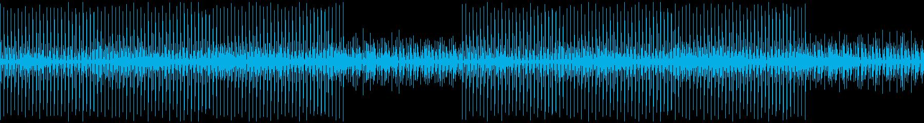 ドラムとパーカッションだけのテクノループの再生済みの波形