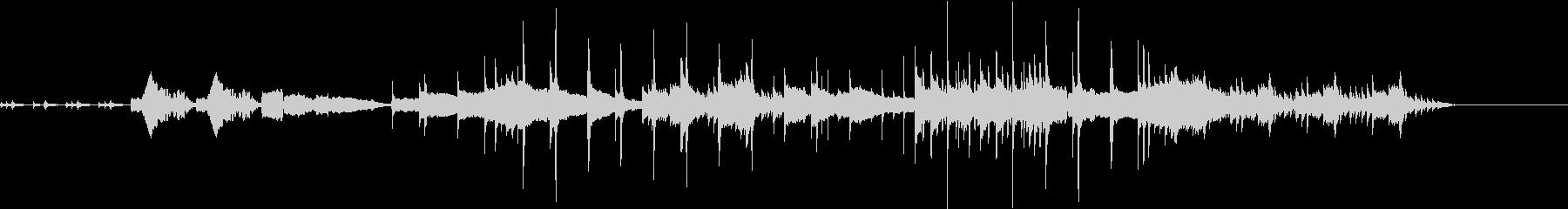 和楽器中心の3拍子の静かな曲の未再生の波形