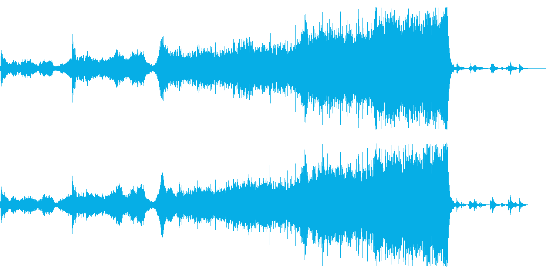 Mysterious Power声メロ無の再生済みの波形