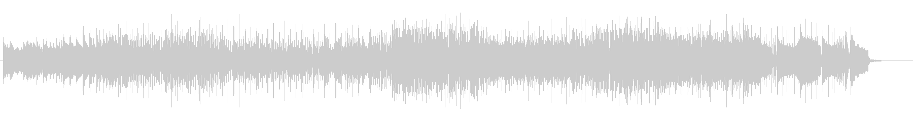 ラスボス感のある激しめのピアノ楽曲の未再生の波形