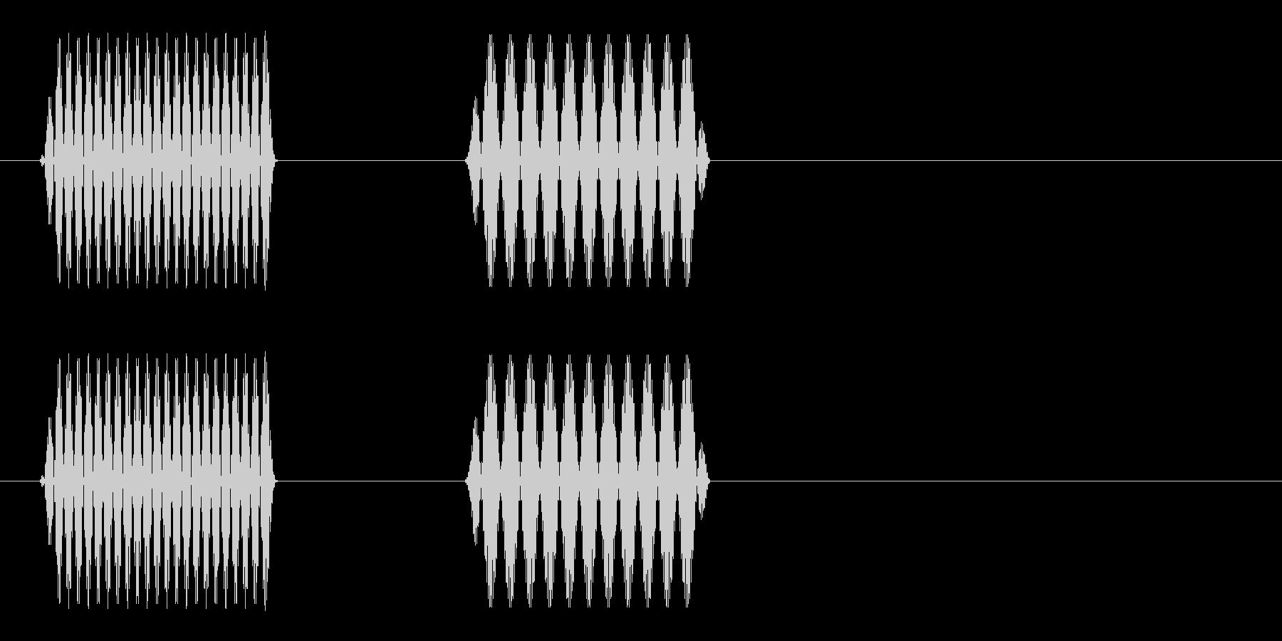ポピッ(電子音)シンプル2の未再生の波形