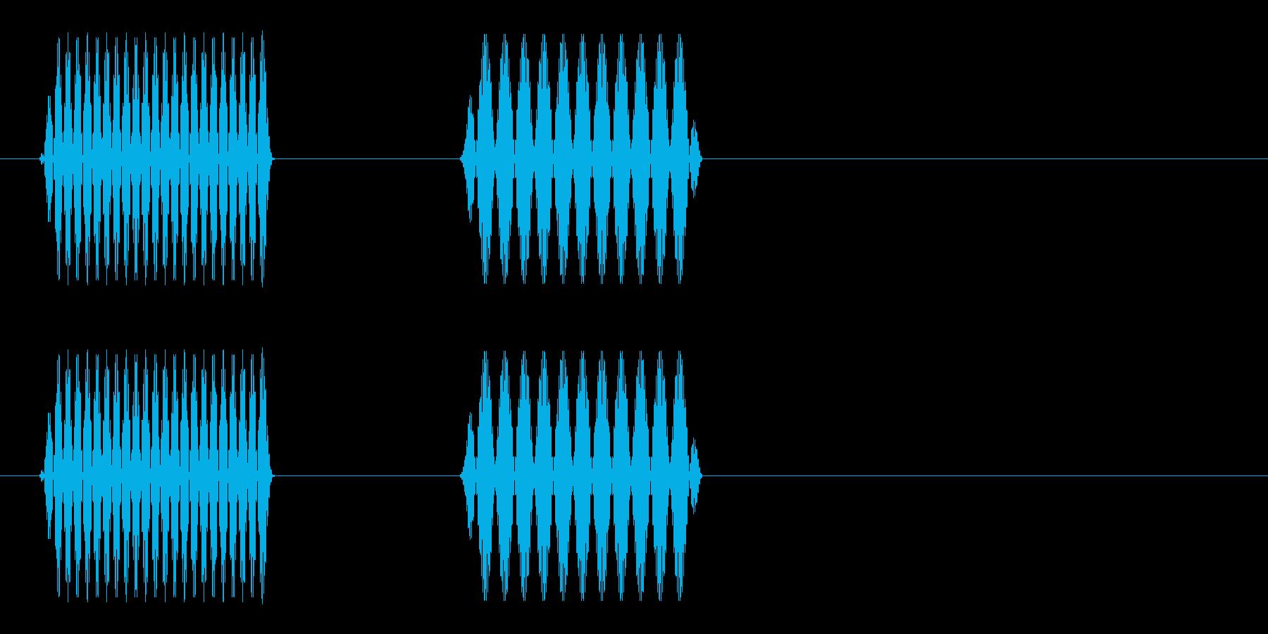 ポピッ(電子音)シンプル2の再生済みの波形