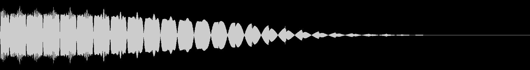 ポロロロ(弾/レーザー/SF/ゲームの未再生の波形