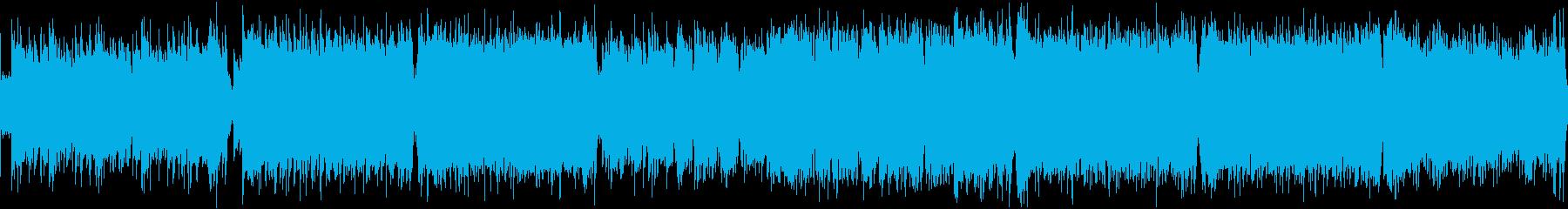 和風ハードロック戦闘曲・ループの再生済みの波形