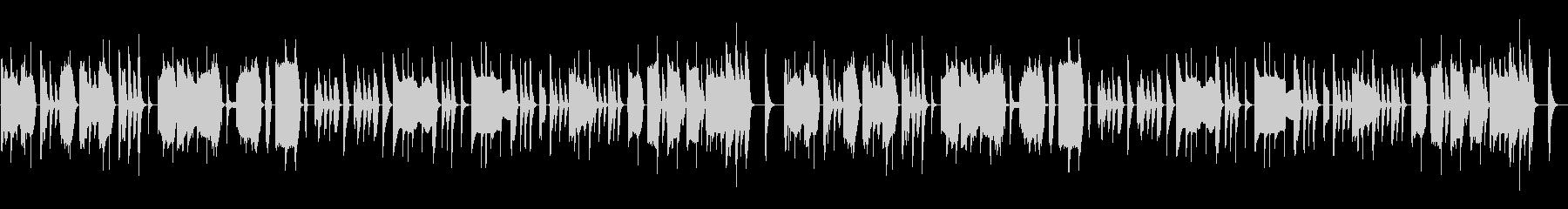 マヌケな脱力系の曲の未再生の波形