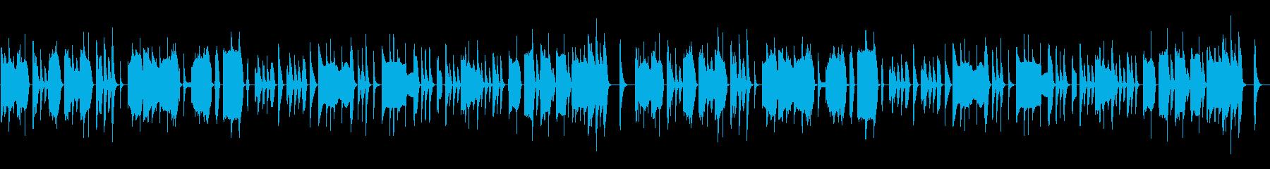 マヌケな脱力系の曲の再生済みの波形