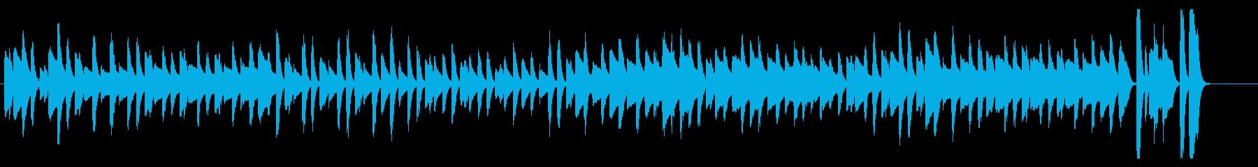 ねこふんじゃった シンプルなピアノソロの再生済みの波形