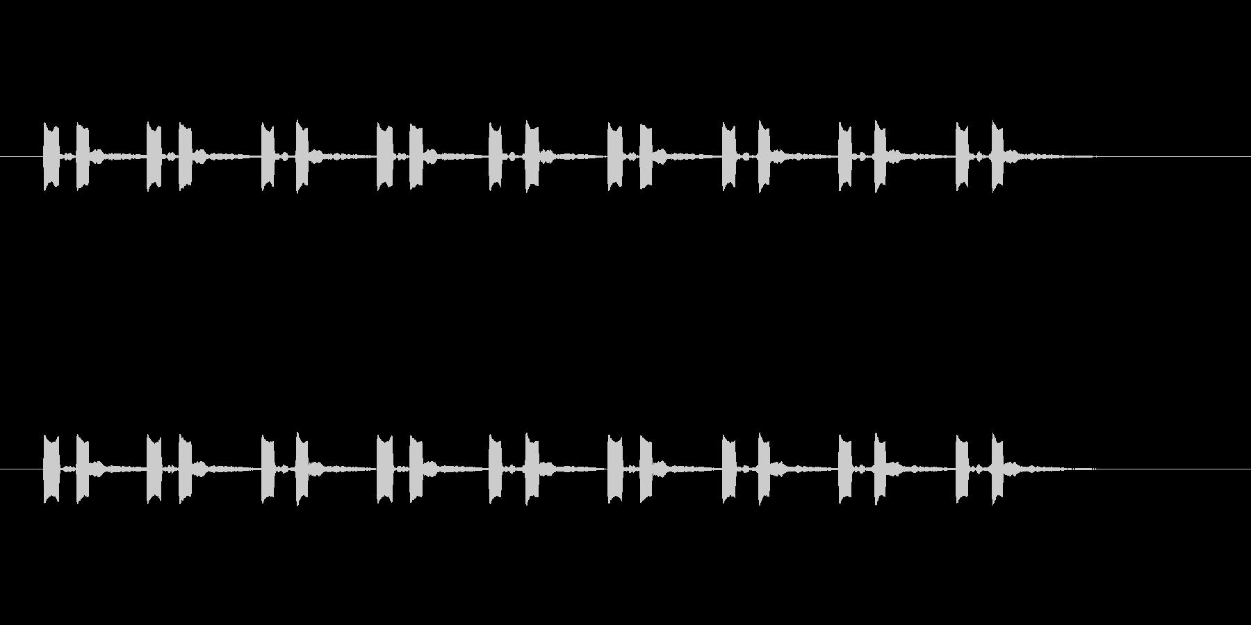 8回のポッポの未再生の波形