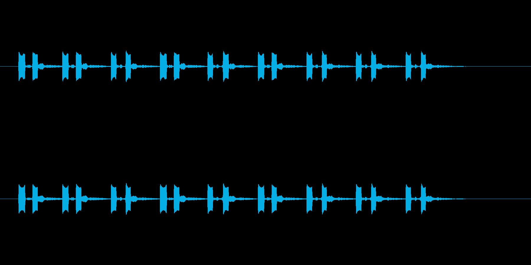 8回のポッポの再生済みの波形