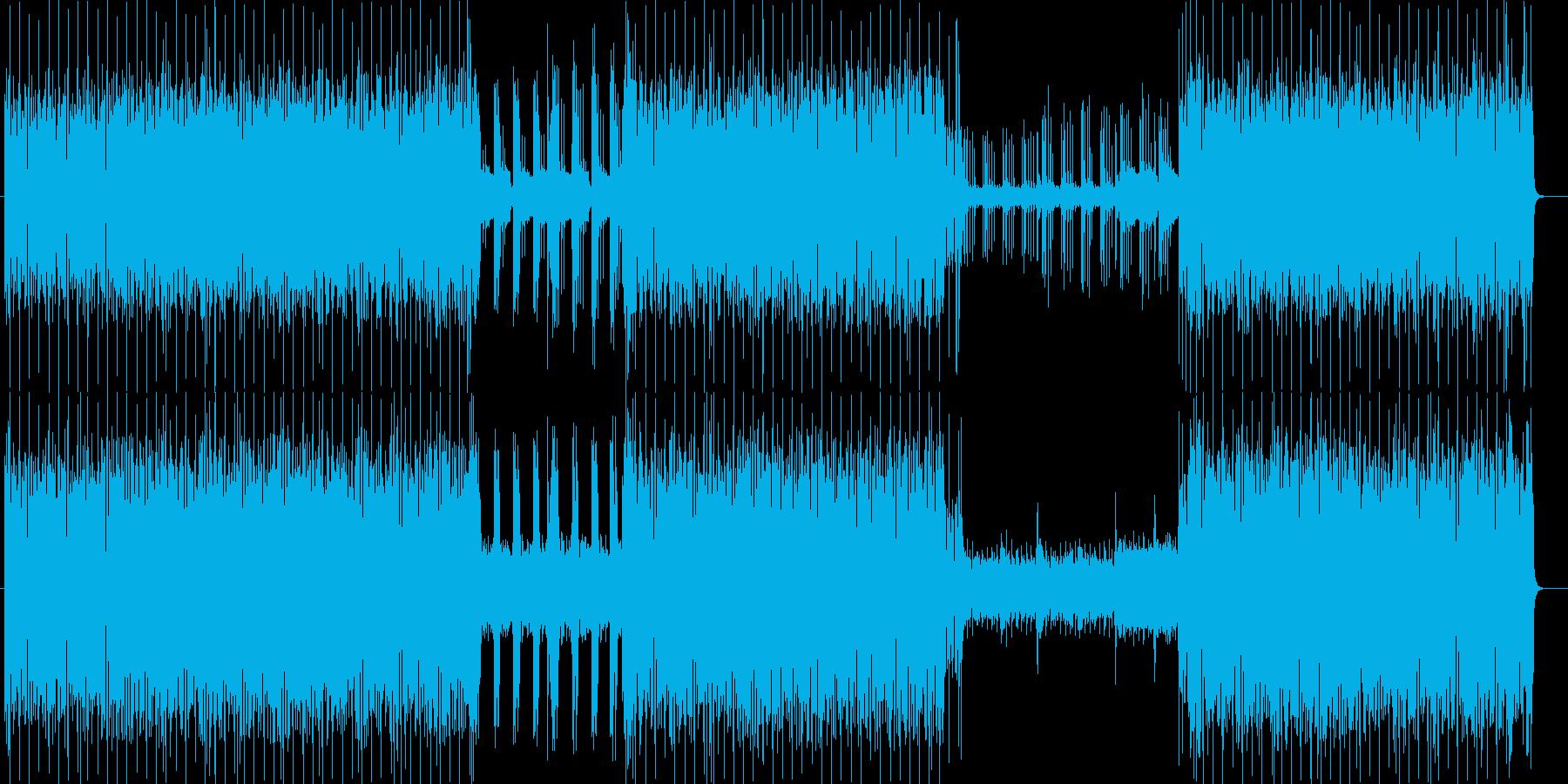 ビートの効いた都会的なシンセの曲の再生済みの波形