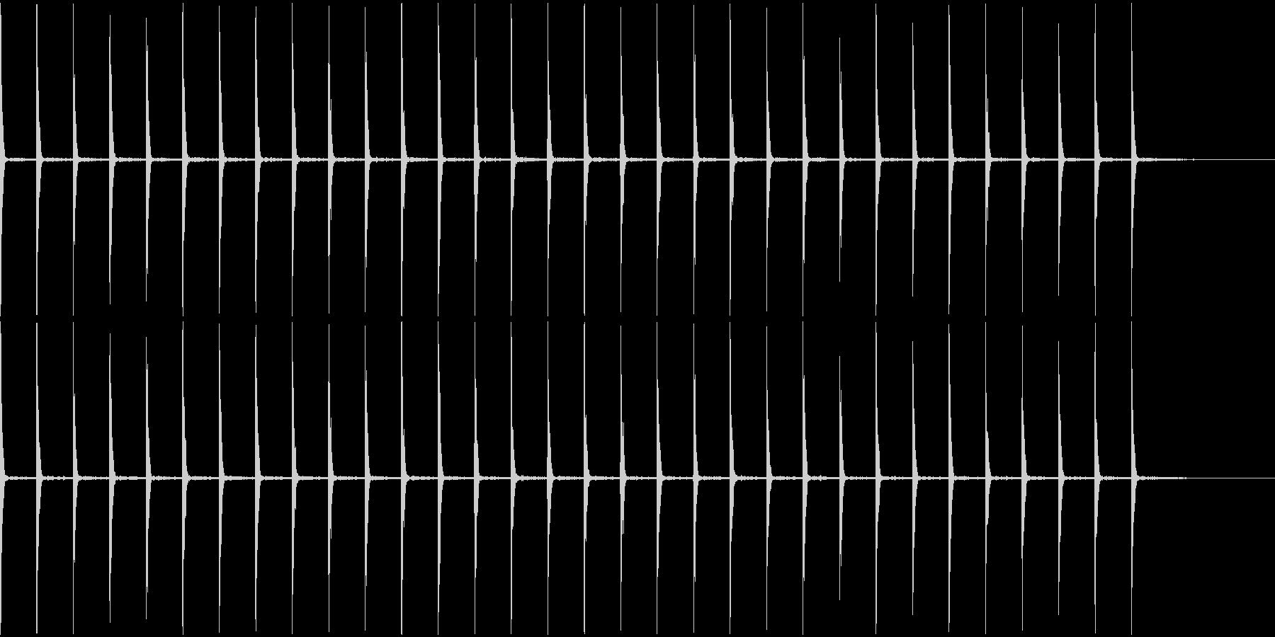 時計のカチカチ音の未再生の波形