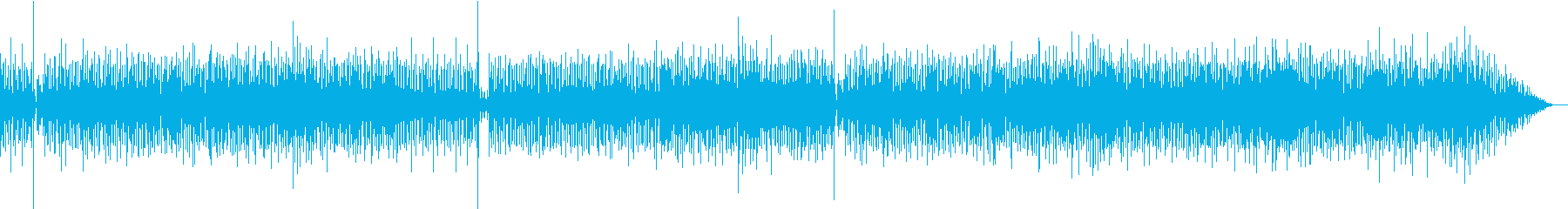 シャカタク風 軽快なジャズファンクの再生済みの波形