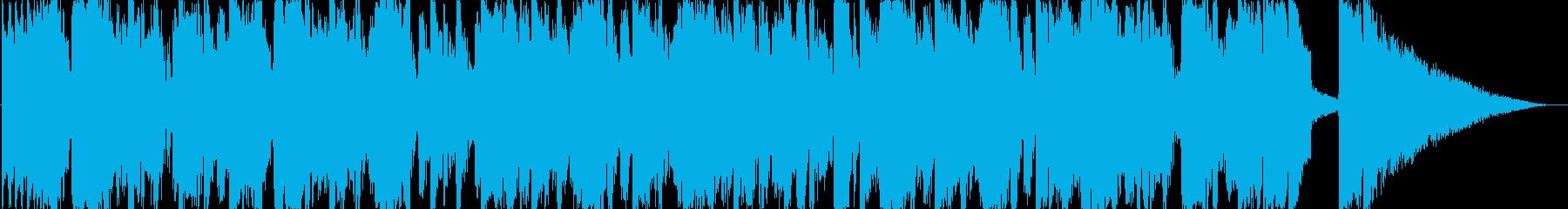 アシッドジャズ風おしゃれな30秒CM楽曲の再生済みの波形