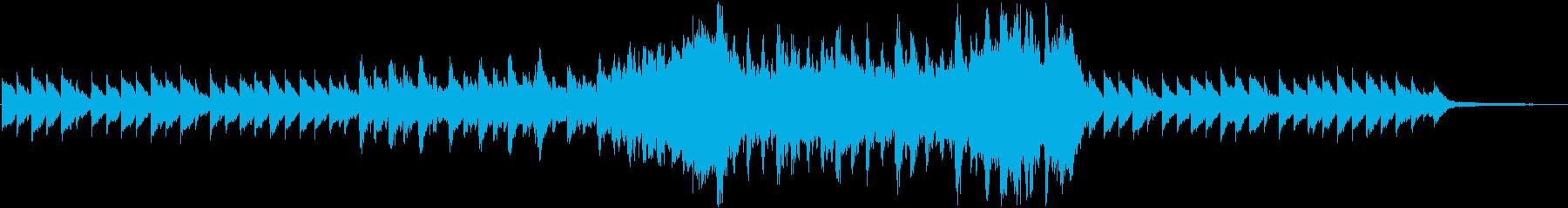 爽やかで壮大なオーケストラBGMの再生済みの波形