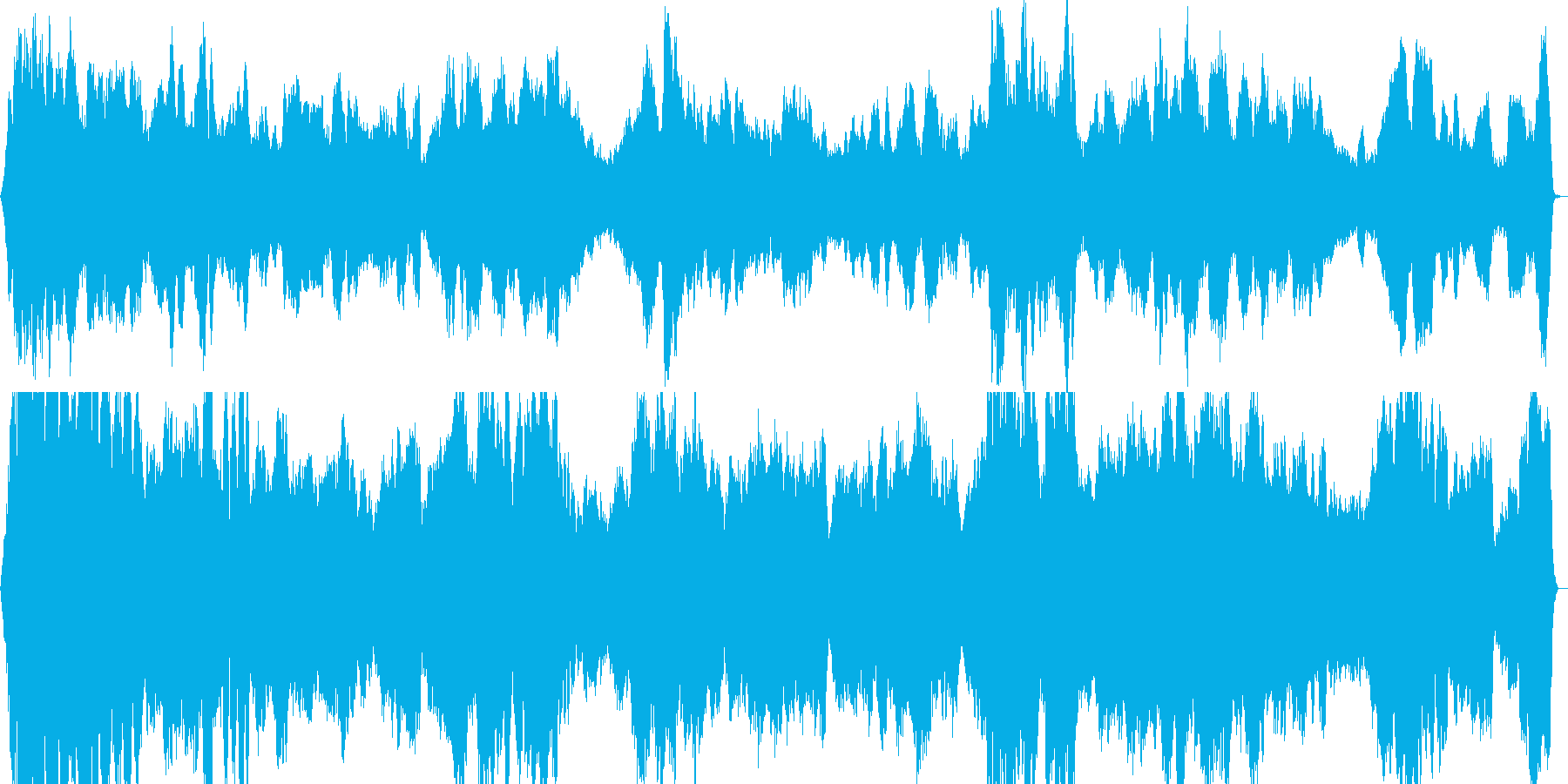 ホラー怪談や恐怖を連想させるBGMの再生済みの波形