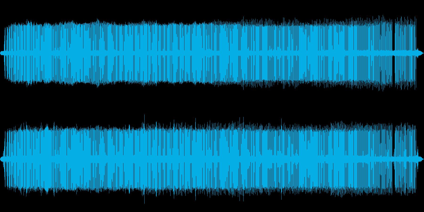 コオロギ【初秋、夜遅く、道端】の再生済みの波形