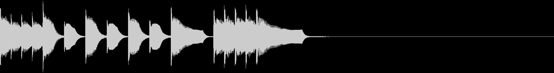 フルートとマリンバの愉快なジングルの未再生の波形