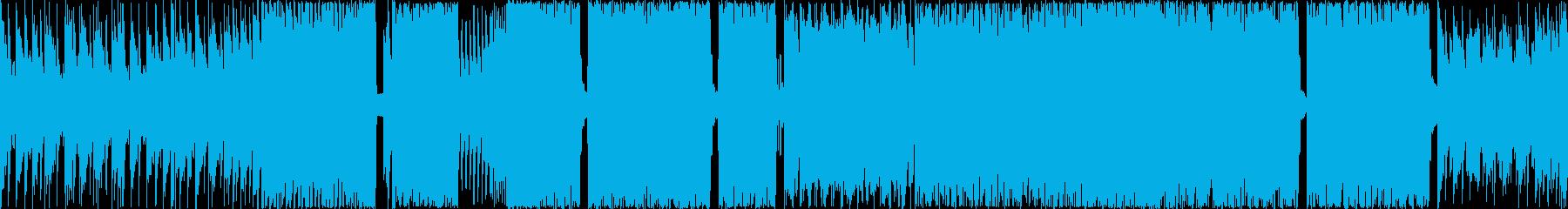 ループ可能な陽気で控えめのスローテンポ曲の再生済みの波形