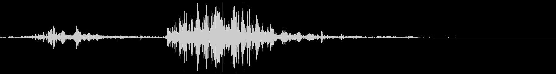 ダッフルバッグ:ドロップオンハード...の未再生の波形