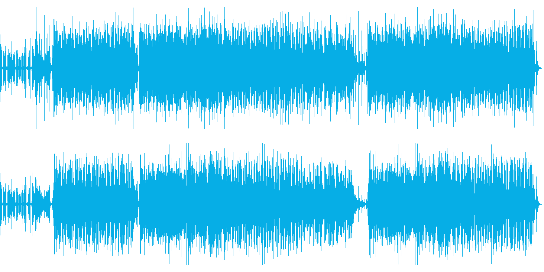 クール&溌剌なアップテンポJazzの再生済みの波形