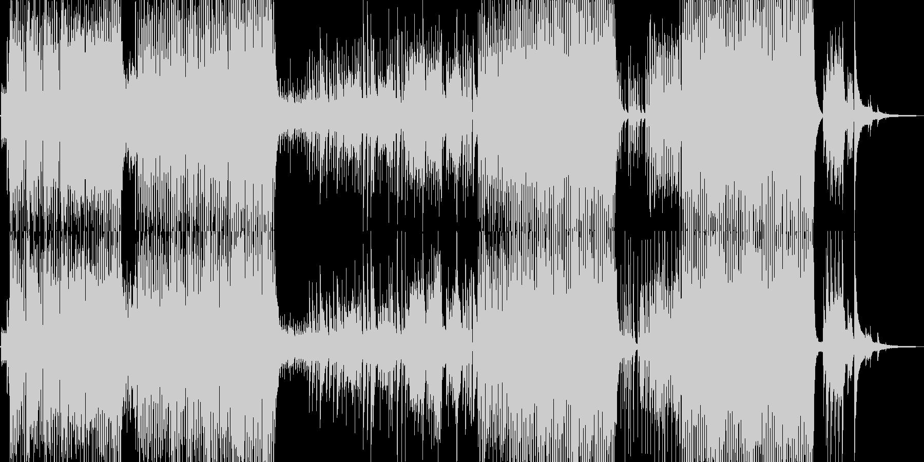三味線と龍笛の賑やかな宴テクノの未再生の波形