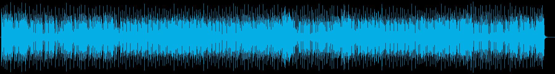 緩やかで軽快なシンセとエレキサウンドの再生済みの波形