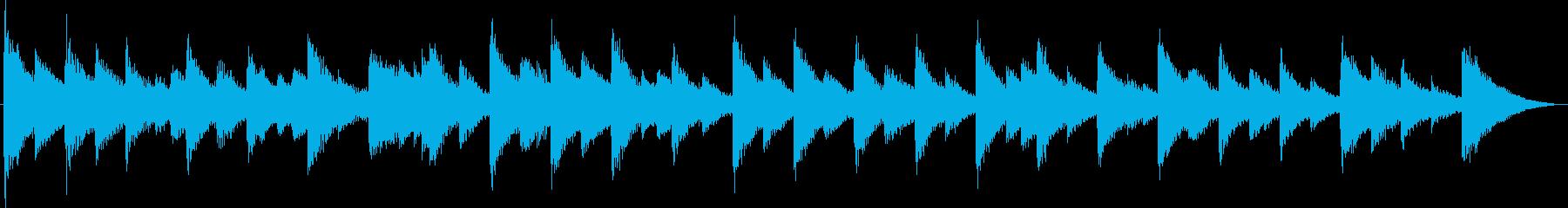 恐怖の鐘・不協和音・ホラーの再生済みの波形
